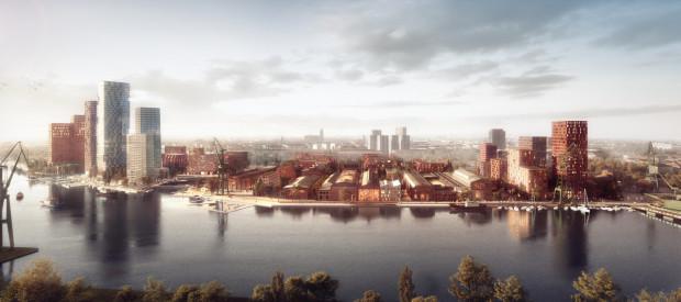Wizja Młodego Miasta w Gdańsku częściowo zabudowanego wysokościami na dzień dzisiejszy nie ziści się - według ustaleń konserwatora nie wyrosną na tym terenie budynki wyższe niż 30 metrów.