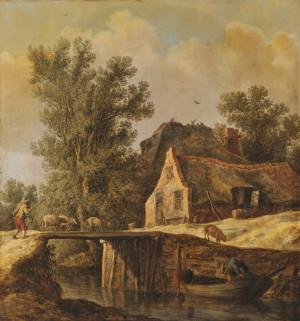 Zrabowany przez hitlerowców obraz Jana von Goyena z 1630 roku, znajdujący się w zbiorach Muzeum Narodowego w Gdańsku.