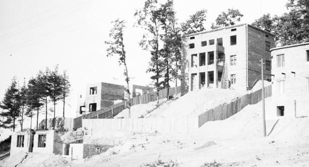 Archiwalne zdjęcia z budowy Willi Dumicz.