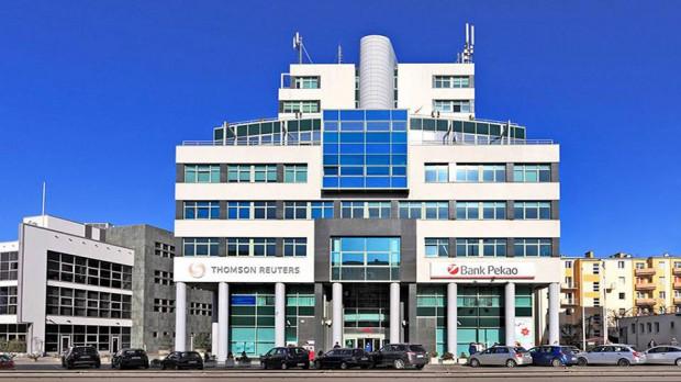Do zdarzenia doszło w widocznym na zdjęciu biurowcu przy ul. Śląskiej w Gdyni.