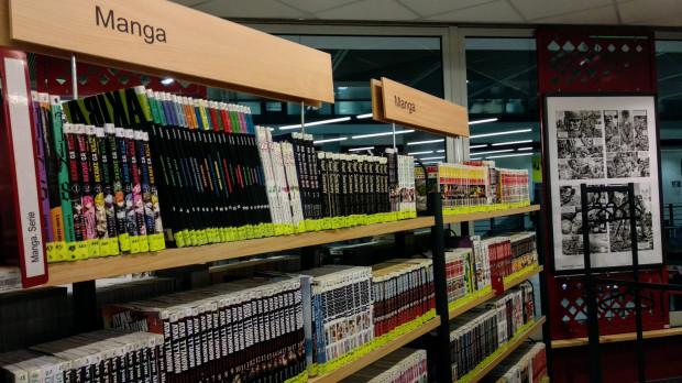 Biblioteka Manhattan posiada bogatą kolekcję mangi.