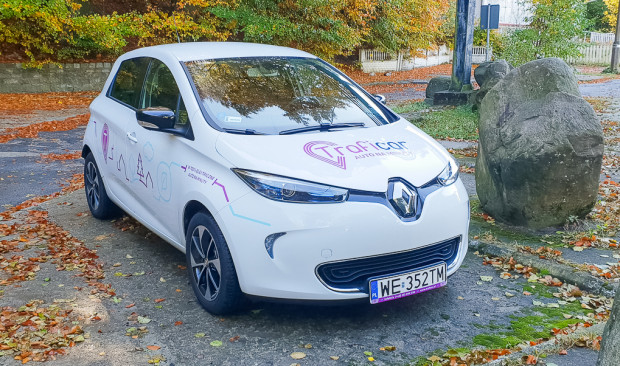Traficar testował Renault ZOE w Trójmieście w 2018 r. Ostatecznie nie zdecydował się jednak na wprowadzenie takich aut osobowych do oferty.