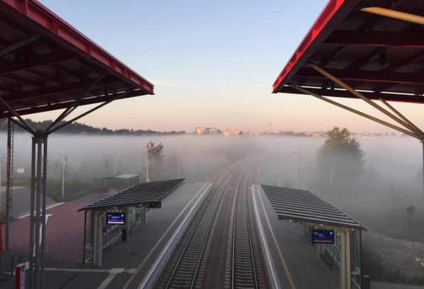 Nasz czytelnik proponuje połączenie szlaków SKM i PKM w rejonie przystanku Gdańsk Jasień (nz.)