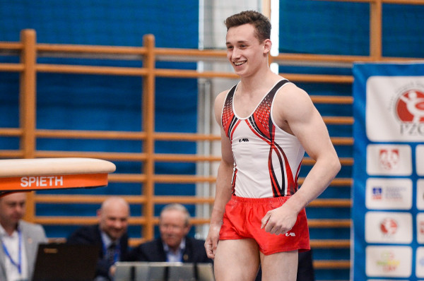 Paweł Kaśków (MKS Gdańsk) został mistrzem Polski w wieloboju młodzieżowca w 2019 roku.