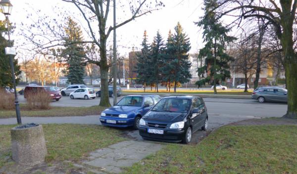 By zapobiec takim sytuacjom, w parku na Siedlcach pojawią się słupki. GZDiZ właśnie opracowuje projekt.
