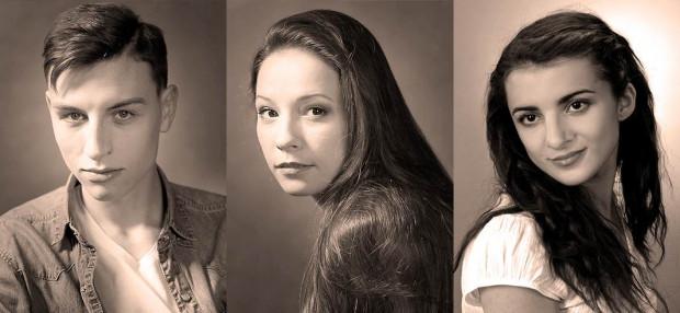 Nowe twarze w zespole Teatru Miejskiego w Gdyni: Krzysztof Berendt, Weronika Nawieśniak (w środku) i Martyna Matoliniec (po prawej).