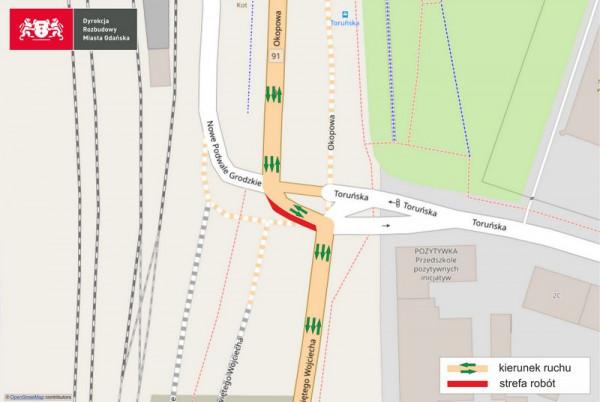 Przez cały wtorek funkcjonuje układ 2+1 - dwa pasy do Pruszcza Gdańskiego i jeden do centrum.