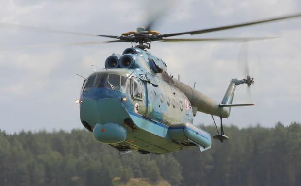 Śmigłowiec Mi-14PŁ. Marynarka Wojenna posiada osiem egzemplarzy tego typu maszyn, które zostały dostarczone przez Związek Radziecki na początku lat 80.