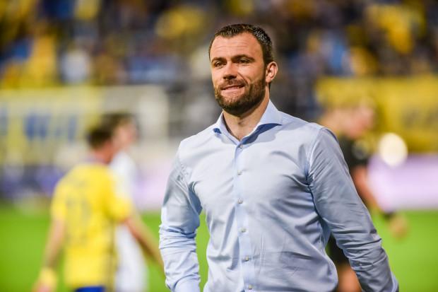 """Krzysztof Sobieraj zapowiada ofensywną grę Arki Gdynia z dwoma napastnikami w """"11""""."""