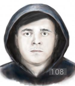Biegły rysownik sporządził w sprawie napaści na kobietę portret pamięciowy sprawcy.