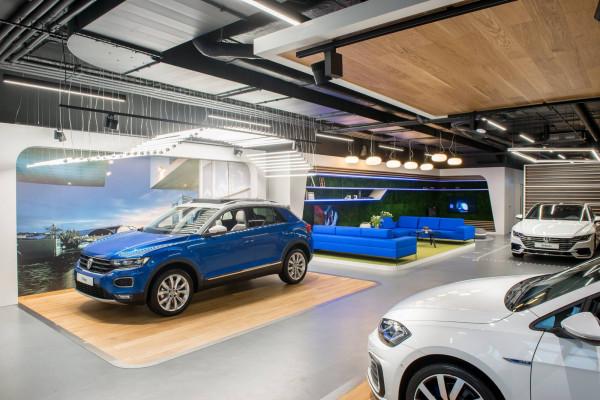 Salon Volkswagen Home w Warszawie.