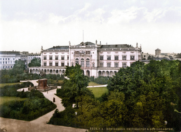 """Gmach główny dawnego Uniwersytetu Alberta w Królewcu, czyli słynnej """"Albertyny"""", koniec XIX w."""