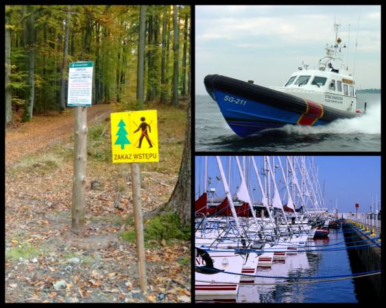 W ostatni weekend funkcjonariusze pouczali spacerowiczów, ale także osoby, które wybrały się na morską wycieczkę.