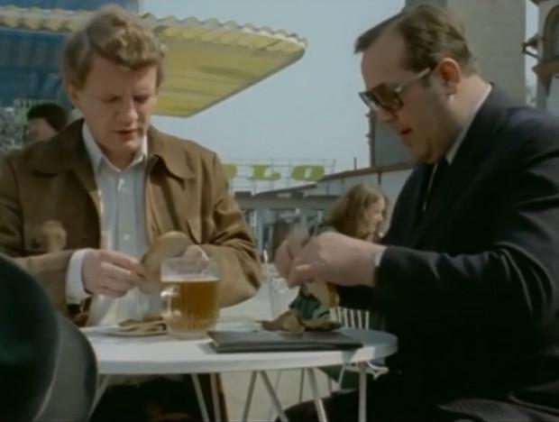 Borewicz z Zubkiem zajadają się rybą w jednej z sopockich restauracji. Takich chwil na relaks podczas wizyt w Trójmieście 07 nie miał zbyt wiele.