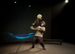"""Twórcy spektaklu """"Sprawa operacyjnego rozpoznania"""" podeszli do tematu z dystansem. Na zdjęciu kukła Wojciecha Jaruzelskiego."""