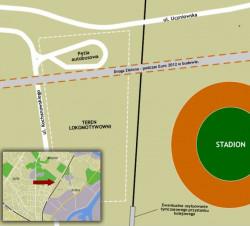 W miejscu parowozowni pojawi się do końca 2012 r. Droga Zielona i pętla autobusowa.