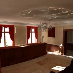 Przedwojenna willa we Wrzeszczu ma służyć przede wszystkim ludziom biznesu. Na ilustracji jedna z koncepcji wyglądu wnętrz.