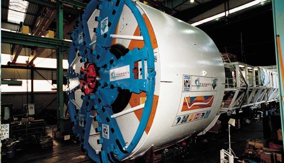 Maszyna TBM (Tunnel Boring Machine), nazywana też maszyną-kret, wydrąży tunel pod Martwą Wisłą.