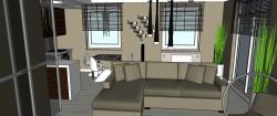 Sofa z szezlongiem pozwala komfortowo wypoczywać dwóm osobom jednocześnie.