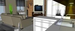 Białe, błyszczące fronty mebli kuchennych wprowadzają poczucie czystości i elegancji.