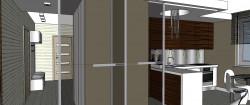 Szklane suwane drzwi to dyskretna bariera między pomieszczeniami, która nie zamyka przestrzeni.