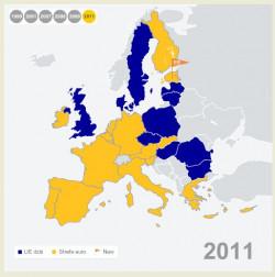 Państwa członkowskie Unii Europejskiej, których walutą jest euro. Na początku 2011 roku dołączyła do nich Estonia.