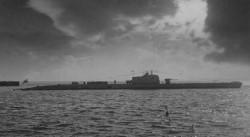 ORP Żbik podczas wyjścia w morze. Zbiory własne autora.