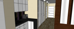 Likwidacja ścianki i drzwi dzielących hall pozwoliły optycznie powiększyć tą przestrzeń.