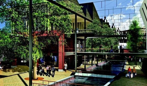 W najnowszym projekcie, szklany dach nad kanałem Raduni będzie podniesiony i zróżnicowany.