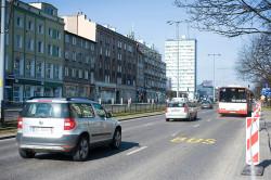 Wytyczony na czas remontu torowiska buspas w ciągu al. Grunwaldzkiej w Gdańsku