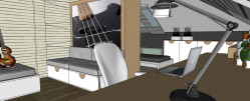 """Pomieszczenie podzielone szafą zyskuje dwie strefy: prywatną - mniej widoczną i """"gościnną"""", która widać od progu."""