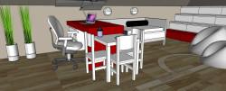 """Tuż nad blatem biurka znajduje się okno połaciowe, które doświetlać będzie """"obszar roboczy""""."""