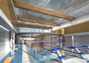 25-metrowa pływalnia. Będą tu mogły odbywać się zawody pływackie.