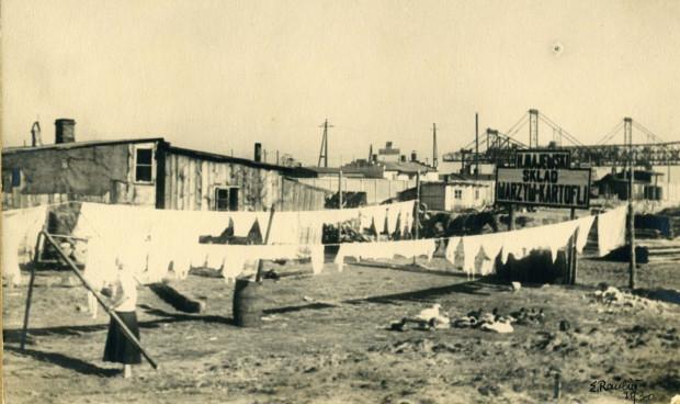 Chińska dzielnica w pobliżu portu, 1930 rok.
