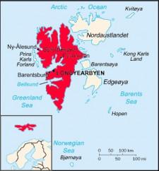 Norweska wyspa Spitsbergen.