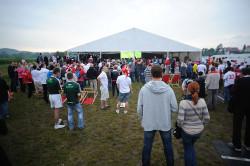 W Sopocie było ok. 3 tys. osób. Nie wszyscy zmieścili się w namiocie, w którym pokazywano transmisję.