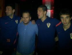 Reprezentanci Chorwacji bawili sie po meczu w sopockim Dream Clubie.