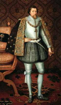 Jakub Stuart, król Szkocji i Anglii, wydał edykt, który zakończył szkocką emigrację do Rzeczpospolitej i Gdańska. Tu sportretowany przez Paula van Sommera.