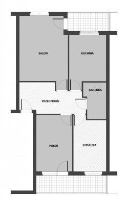 Stan istniejący mieszkania.