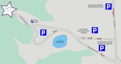 Zobacz, gdzie możesz zaparkować, udając się do Opery Leśnej.