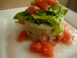 Sałatka z kraba i avokado.