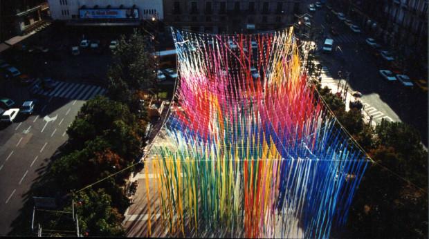 Instalacja Jerzego Janiszewskiego była wcześniej prezentowana w wielu miastach, m.in. w Madrycie.