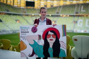Paulina Rudnicka za blog kapuczina.blogospot.pl otrzymała na nagrodę Blog of Gdańsk 2012.