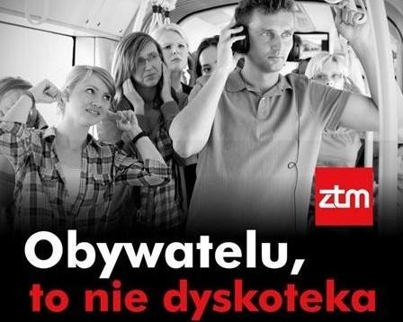 Warszawski ZTM prowadzi akcję przeciwko zbyt głośnej muzyce w komunikacji miejskiej.
