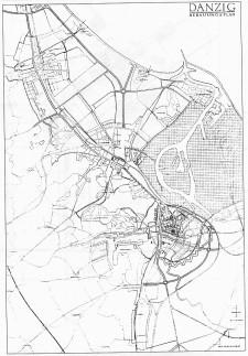 Projekt ul. Nowej Wałowej wraz z kolejowym ringiem z lat 30-tych XX wieku.