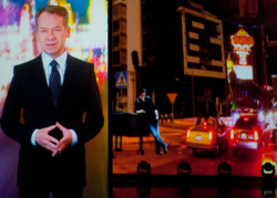 Jednym z prowadzących galę był Mirosław Baka, w tle filmowe animacje Roberta Sochackiego